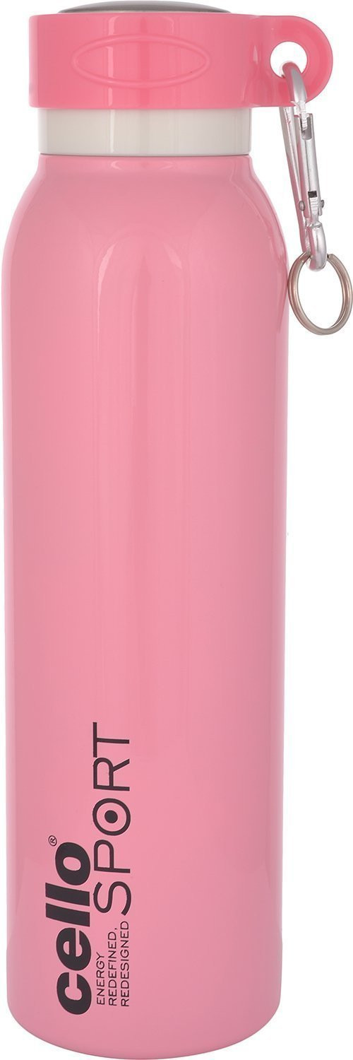 Cello Beatle Stainless Steel Sports Flask Double walled 550ml Pink